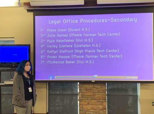 Julie Gomez 2nd Place Legal Office Procedures
